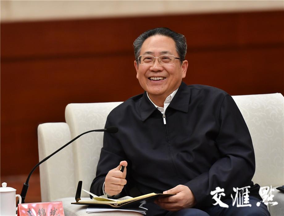 安徽省委书记李锦斌。交汇点记者 肖勇摄