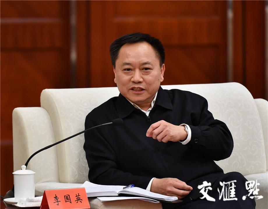 安徽省委副书记、省长李国英。交汇点记者 肖勇摄