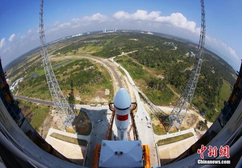 俯瞰海南文昌航天发射场。