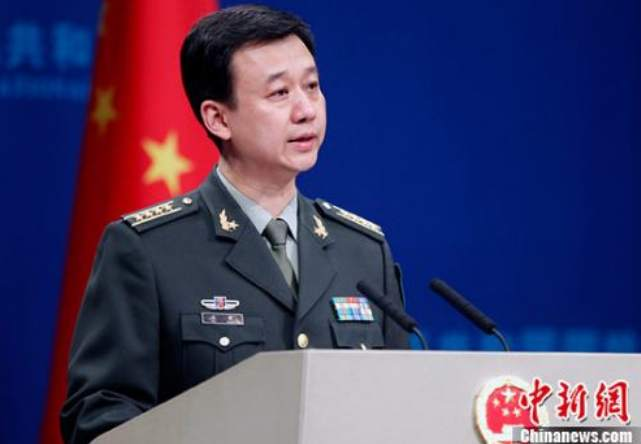 国防部新闻发言人吴谦。资料图