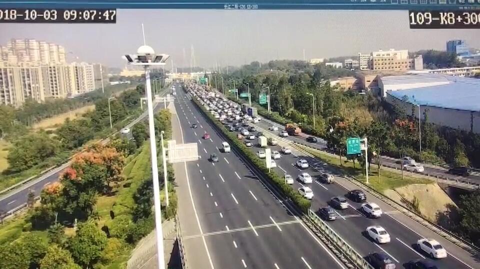 路况直播 | 苏南、苏中地区高速公路车流量增长明显,局部路段阶段性车多缓行