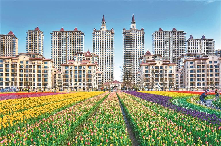 苏州市吴江区新湖明珠城环境优美,是理想的生活家园。 张桂荣摄