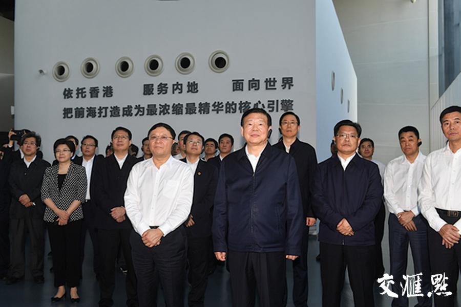 江苏省党政代表团一行参观前海蛇口自贸片区。交汇点记者 邵丹 摄