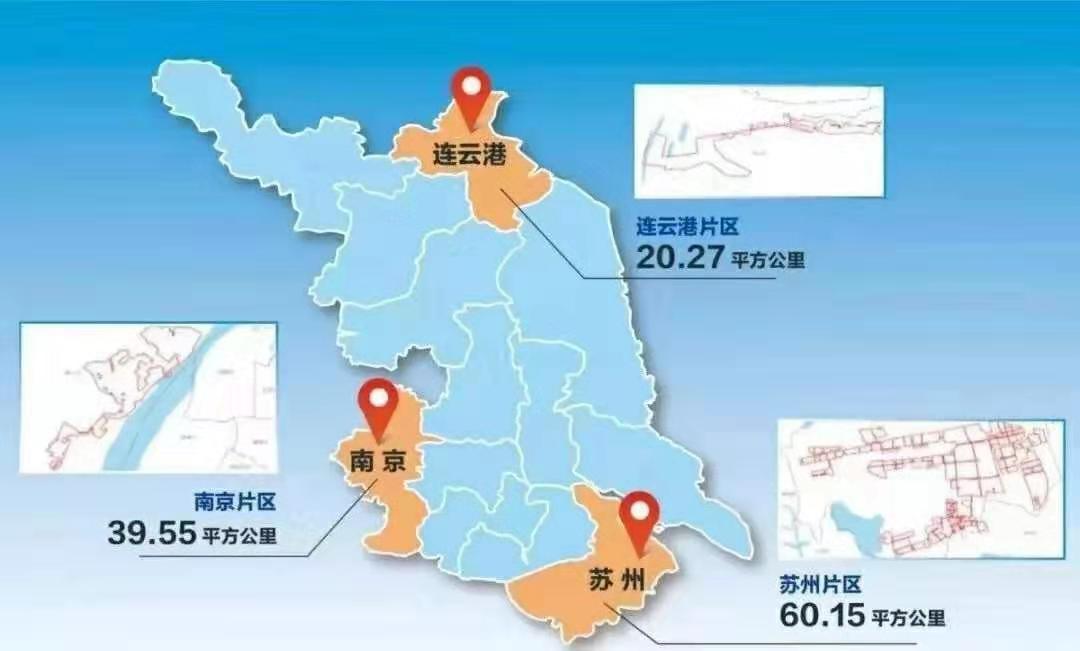 三大片区示意图。来源:新华日报