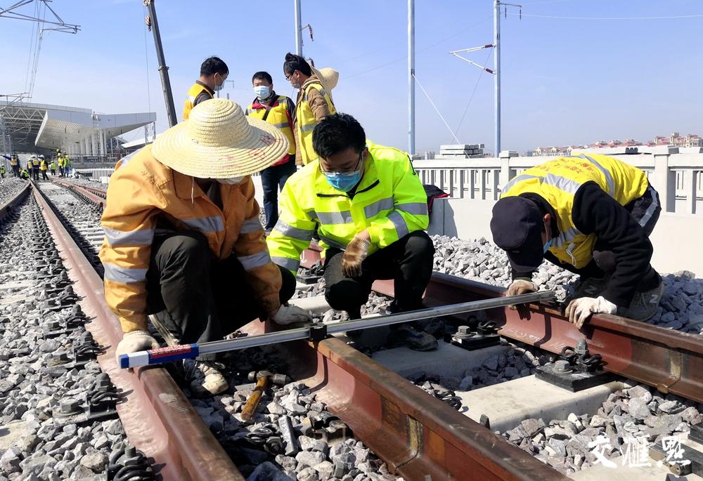 沪通铁路一期即将建成通车。江苏省铁办供图