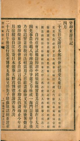 张謇《癸卯东游日记》