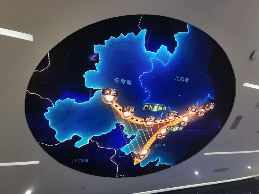 G60九城市地理展示图。